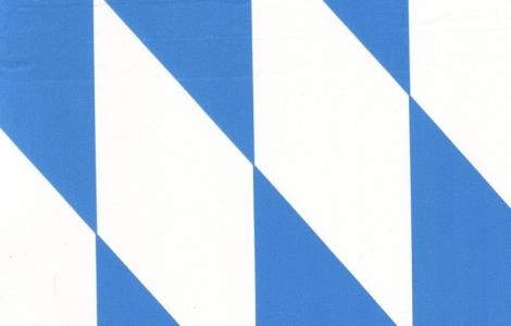 Bayrisch Raute Folie blau weiß, Farbe: 160