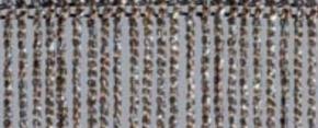 Fadenvorhang Lurex cappucino-silber