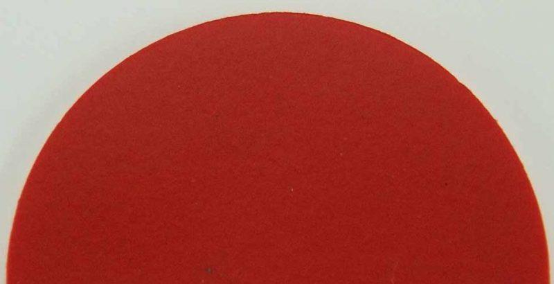 Tanzteppich Bolero in rot (Bsp.: runder Zuschnitt)