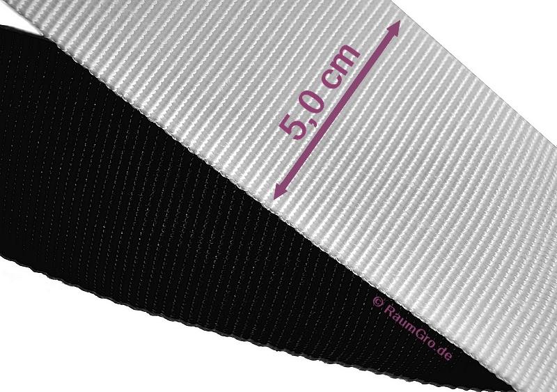 Gurtband schwarz oder weiss