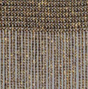 Fadenvorhang Lurex cappucino-gold