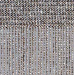 Fadenvorhang Lurex graphit-silber