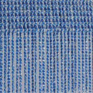 Fadenvorhang Lurex ozean-silber