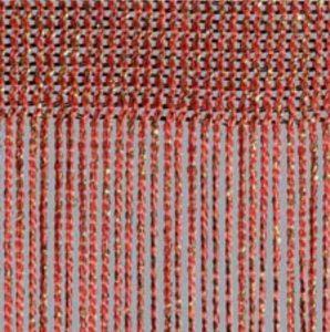 Fadenvorhang Lurex rubin-gold