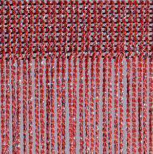 Fadenvorhang Lurex rubin-silber