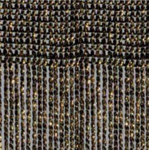 Fadenvorhang Lurex schwarz-gold