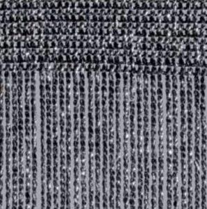 Fadenvorhang Lurex schwarz-silber