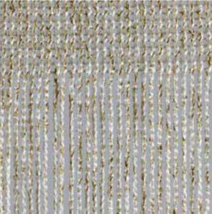 Fadenvorhang Lurex weiss-gold