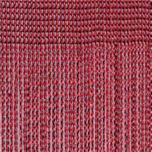 Fadenvorhang Object aus Trevira CS rot